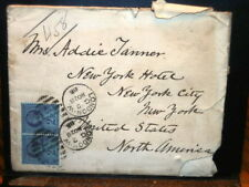 #7295,TWO SC #114 on Cover London to NY 1888,Seldom Seen,