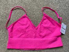 Free People Ultimately Hot Pink Low Back Bra - Size Medium/Large