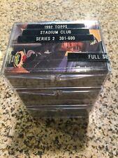 1992 TOPPS STADIUM CLUB BASEBALL CARDS SERIES # 2, 301-600, NM/M