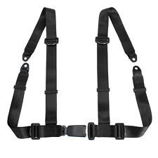 1xBlack 4 Point Universal Vehicle Racing Seat Belt Harness Auto Car Safety Strap