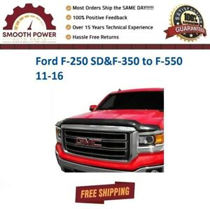 AVS Bugflector II Hood Protector 45059 For Ford F-250 SD&F-350 to F-550 11-16