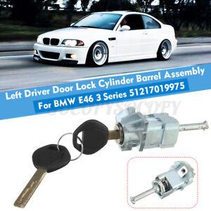 Left Driver Door Lock Cylinder Barrel Assembly & 2 Key For BMW 325i 330i 01-06