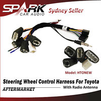 Steering Wheel Control Harness SWC Plug Wire Radio Antenna For Toyota Kluger