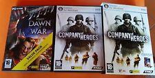 2 PC GAME, COMPANY OF HEROES+WARHAMMER 40.000 DAWN OF WAR, ITA CON ISTRUZIONI