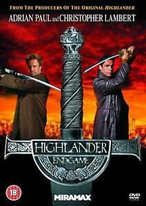 Highlander 4 Endgame DVD Christopher Lambert - Region 2 UK Release
