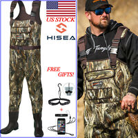 HISEA Hunting & Fishing Waders Neoprene PVC Bootfoot 200G Insulated Chest Waders