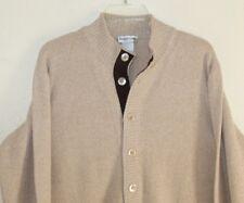 Exquisite Men's Bullock * Jones Cashmere Wool Suede Cardigan Sweater Jacket Sz M