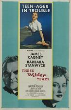THESE WILDER YEARS Movie POSTER 27x40 James Cagney Barbara Stanwyck Walter