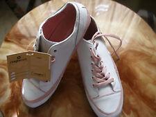 REBAJAS j'hayber preciosas zapatillas mujer piel talla nº 41 blancas con rosa