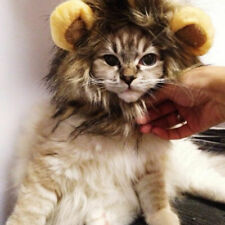 Pet Cats Gogs Lion Wig Head Cover Cute Pet Decor Hats Family Small Pet Clothing
