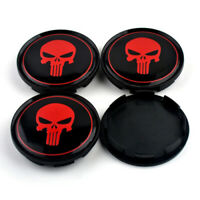 4x 63mm Punisher Nabendeckel Felgendeckel Rot M595 für OZ Racing Superturismo