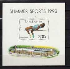 Tanzania : Summer Sports ( High Jump ) 1993 Minisheet  ( MNH )