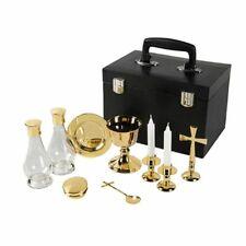 Mass Kit Chalice Paten Gold Set Catholic Travel Priest Plated 24k Case Pyx