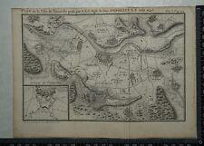 1766 antique Carte de Thionville 1643-Louis de Bourbon, Prince de Conde.