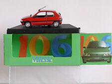 RARE PEUGEOT 106 XT rouge- neuf boîte promo - VITESSE 1/43º  made in Portugal