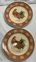 (Set Of 2) Queen's Rooster Fine Earthenware Dinner Plate(s) - Colombia