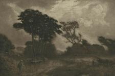 Joseph Kirkpatrick (1872-1936) - Early 20th Century Etching, Figure in Landscape