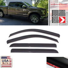 Window Visor Shade Guard 2017-18 Ford F250 F350 Super Duty SuperCrew Crew Cab