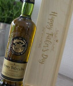 Wooden Wine/Spirit/Champagne Gift Box - Father Day Design