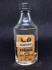 Vintage David Jones ALMOND ESSENCE BOTTLE rare Australian grocery supermarket
