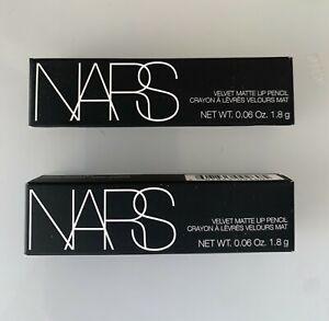 x 2 NARS Dragon Girl Velvet Matte Lip Pencil   .06 oz / 1.8 g  NEW in box