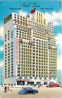 Hotel Dixie Times Square New York City NY old crs 1940s West Broadway Postcard