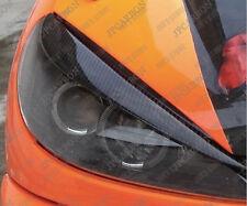 Carbon Fiber Headlight Eyebrows Eyelids for 1998-2012 2000 02  Peugeot 206 206cc