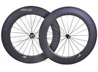 88mm Wheelset Carbon Clincher Road TT Bike 700C Basalt Rim 3k matt U Novatec 25