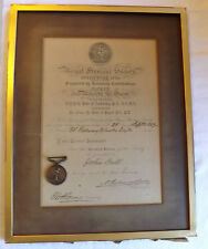 An Original Royal Humane Society Bronze Life Saving Medal With Certificate (3044