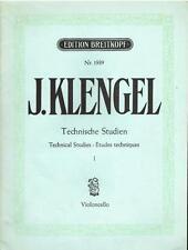 Klengel: Studi Tecnici Per Violoncello - Edition Breitkopf