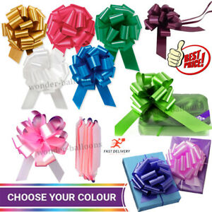 Large Pull Bows 50mm Wedding Car Gift Wrap Party Florist Poly Ribbon decoration