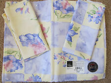 6 Home Wear Easter Spring, Floral Placemats Napkins Flower, Monets Boxes USA NWT