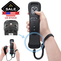 Black Remote Controller Built in Motion Plus Nunchuck For Nintendo Wii U USA