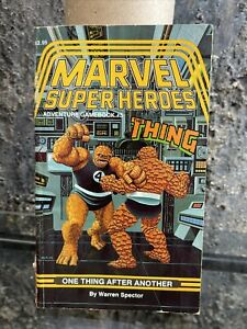 SIGNED Marvel Super Heroes Adventure Gamebook 5 One Thing After Another TSR 1987