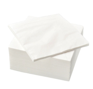 Paper napkin, 100 Pack, IKEA FANTASTISK, 40 x 40 cm  -  new