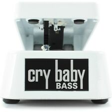 Dunlop 105Q Cry Baby Bass Guitar Wah Effects Pedal, White