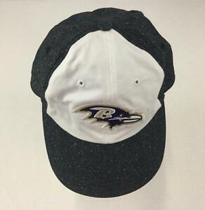 Baltimore Ravens Womens Baseball Cap Black Sparkle NFL Official Strap Black 1245