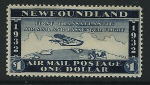 Newfoundland 1932 $1 Airmail cinderella mint o.g. hinged