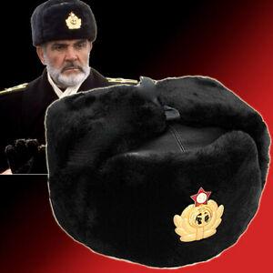 Genuine Russian Military NAVY Mens Uniform Ushanka Fur Hat Winter Gift + Badge