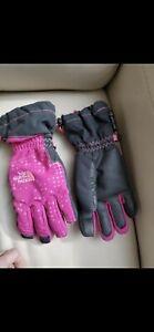 The North Face Hyvent Gloves Youth Medium Pink & Black