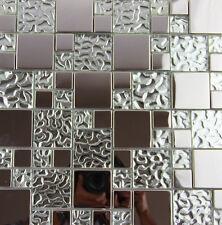 glass metal mosaic tile kitchen backsplash bathroom decorative wall room tile