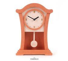 Modern Wood Pendulum Wall Clock Home Decor Interior Unique Design Gift - Orange