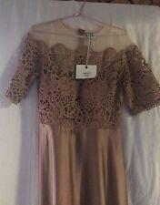 Ladies Angel Biba Mocha Formal/ Evening Dress Size 12