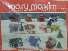Old Mill Musical Village Needlepoint Kit by Mary Maxim