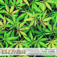 HYDROGRAPHIC FILM FOR HYDRO DIPPING WATER TRANSFER FILM MARIJUANA WEED LEAF
