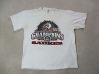 VINTAGE Buffalo Sabres Shirt Adult Extra Large White Red NHL Hockey Mens 90s *