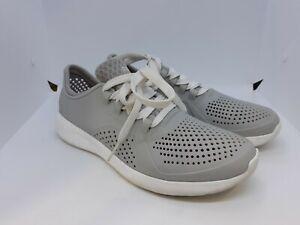 Crocs LiteRide Light Gray Women's Sneakers Lace Up Size 9