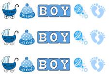 It's A Boy Pre Cut Edible Icing Cake Side Strips / Ribbon 3 x strips