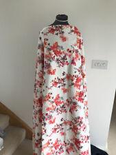 Stretch Cotton Dressmaking Fabric Honeysuckle Rose Floral Print