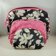 Once Upon A Rose set 3 Cosmetic Bags Travel Floral Pink Black White Cute Fashion